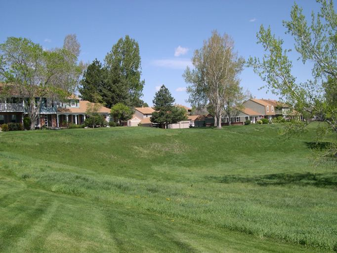 Photo of townhouses on greenbelt